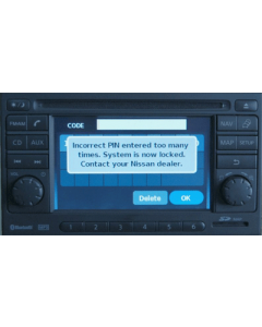 Nissan LCN Connect Sat Nav Radio Decode